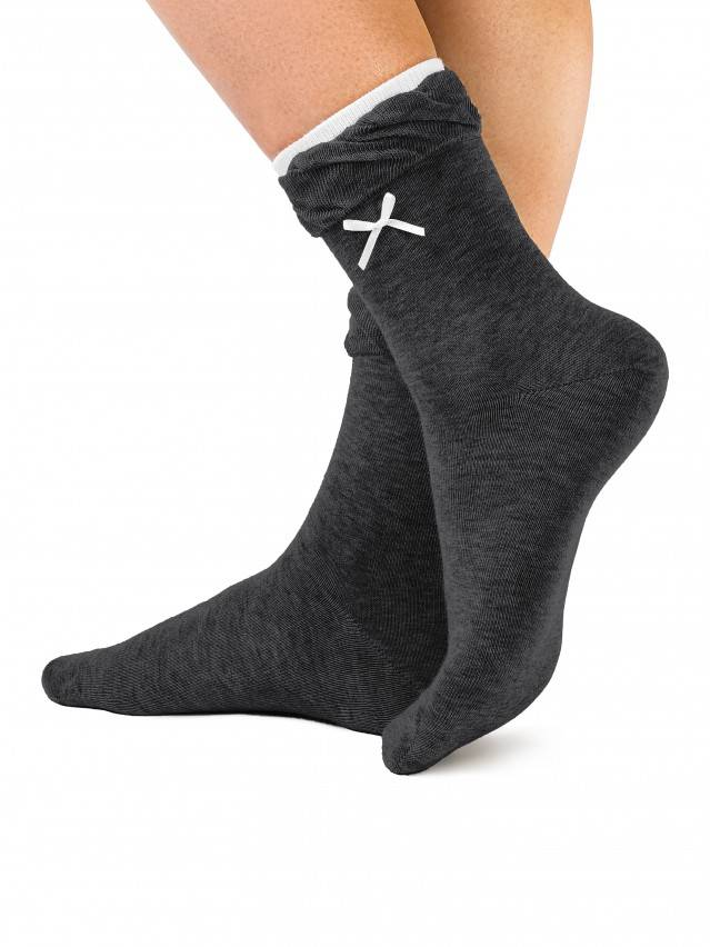 Women's socks CONTE ELEGANT COMFORT, s.23, 037 dark grey - 1