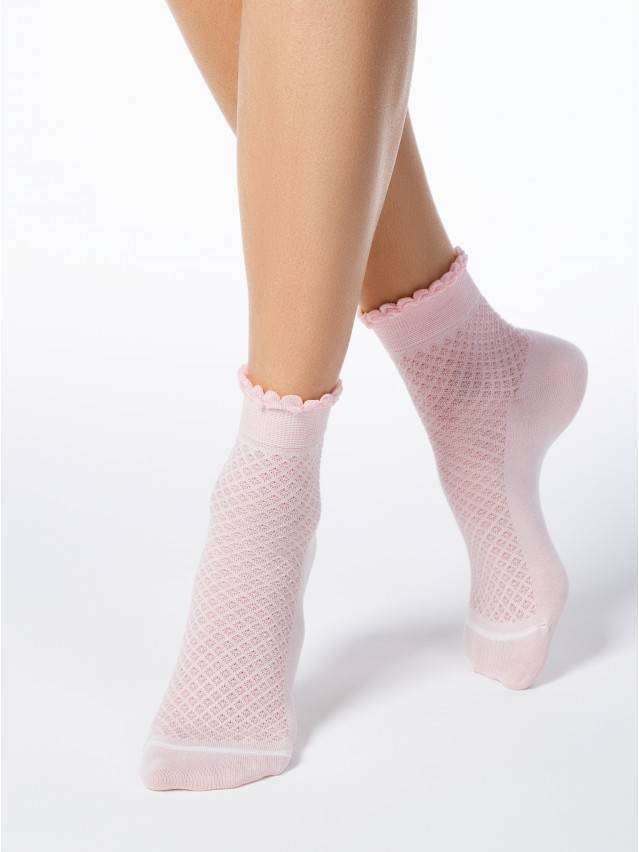 Openwork cotton socks CLASSIC with picot 1
