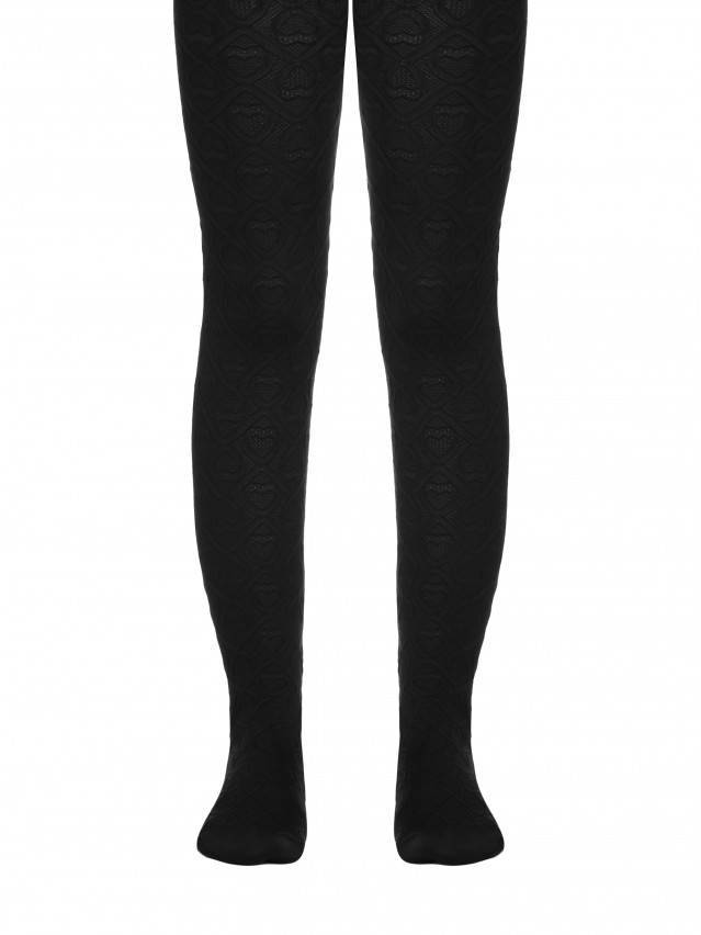 Fancy children's tights CONTE ELEGANT EVA, s.104-110, nero - 1