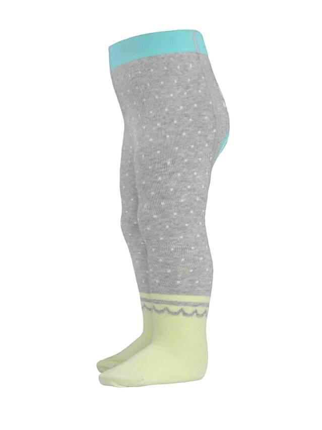 Children's tights CONTE-KIDS TIP-TOP, s.62-74 (12),383 grey-lettuce green - 3