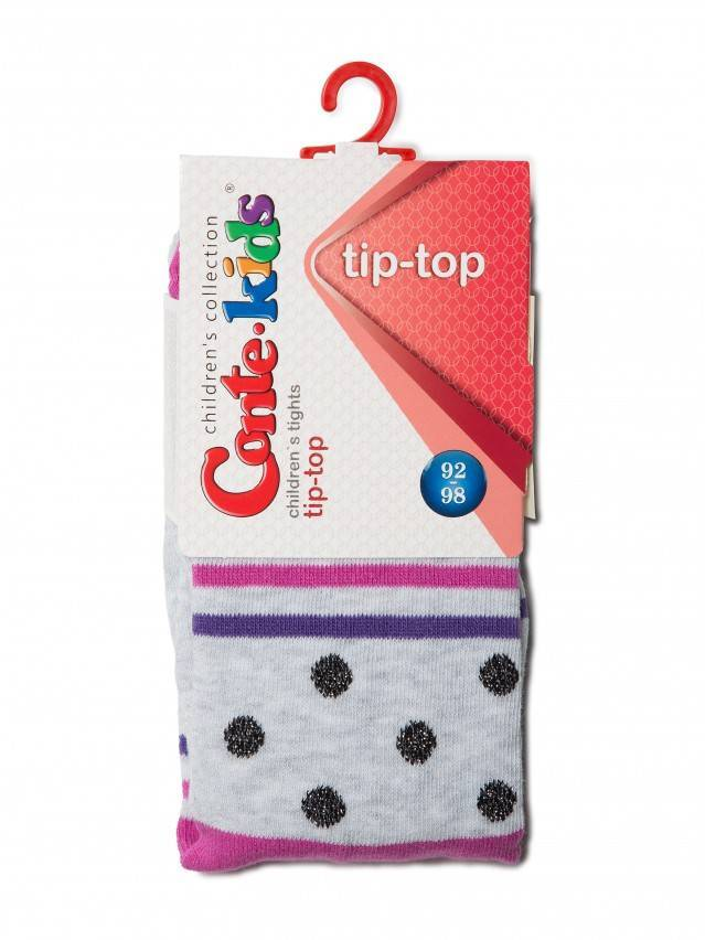 Children's tights CONTE-KIDS TIP-TOP, s.92-98 (14),408 light grey-fuchsia - 2