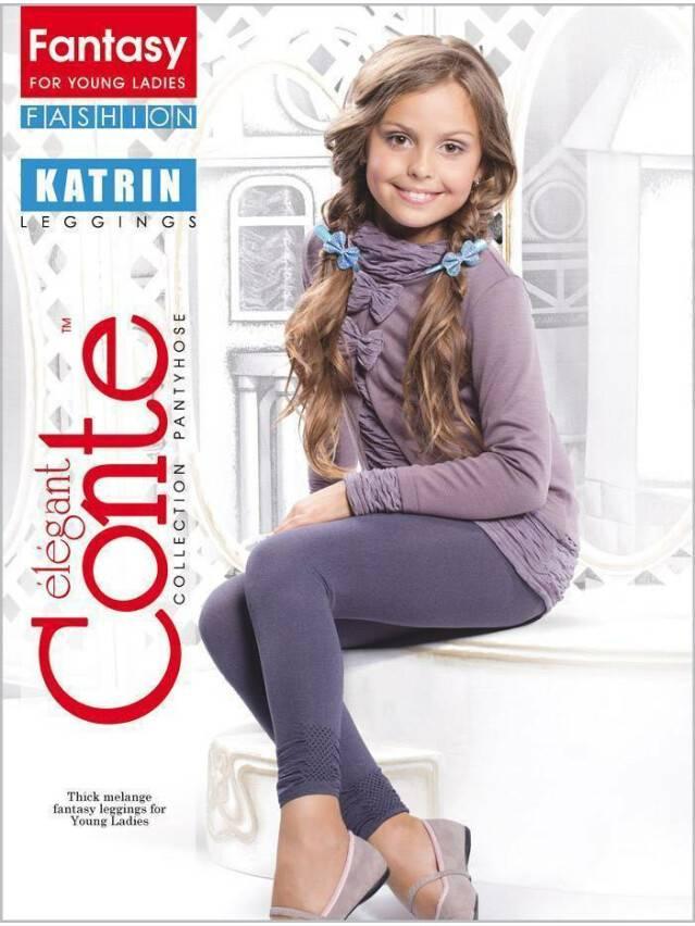 Children's leggings CONTE ELEGANT KATRIN, s.140-146, nero - 1
