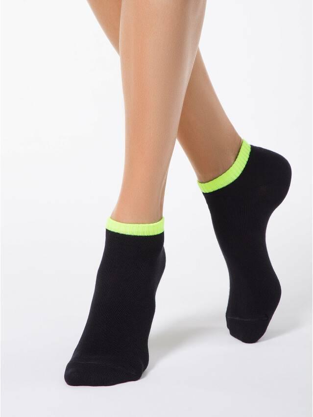 Women's socks CONTE ELEGANT CLASSIC, s.23, 068 black-lettuce green - 1