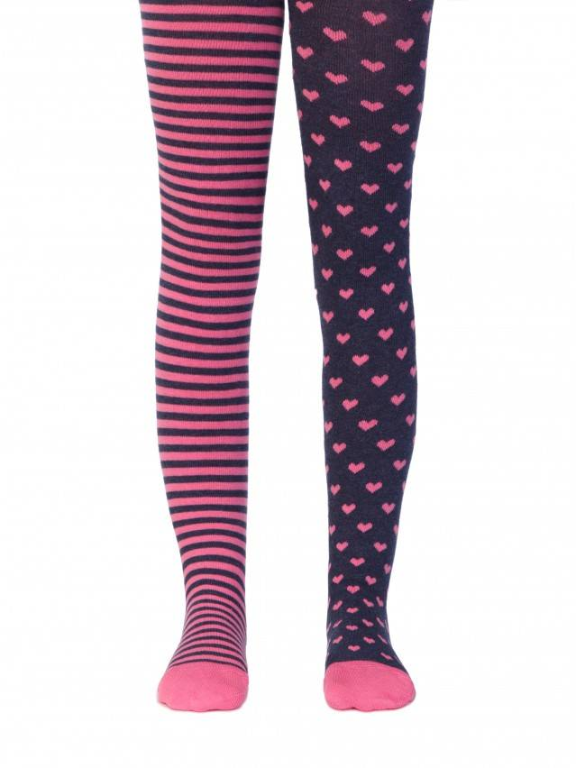 Children's tights CONTE-KIDS TIP-TOP, s.104-110 (16),355 navy-pink - 1