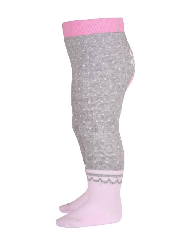 Children's tights CONTE-KIDS TIP-TOP, s.62-74 (12),383 grey-light pink - 3