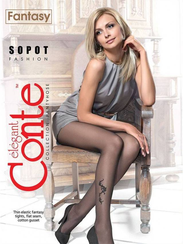 Women's tights CONTE ELEGANT SOPOT, s.2, grafit - 1