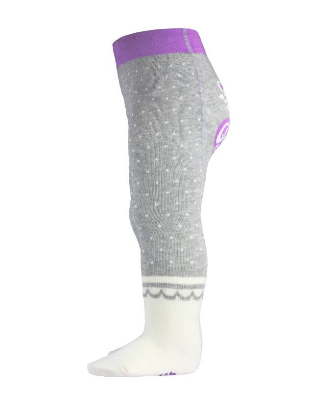 Children's tights CONTE-KIDS TIP-TOP, s.62-74 (12),383 grey-cappuccino - 3