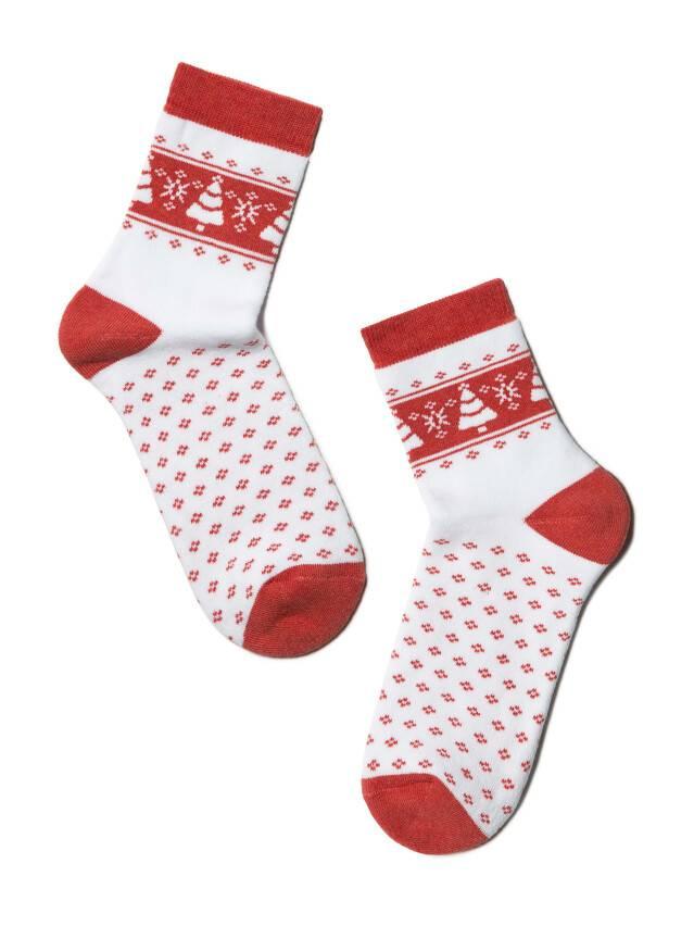 Women's socks CONTE ELEGANT COMFORT, s.23, 080 white-red - 2