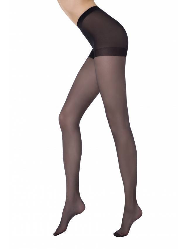 Women's tights CONTE ELEGANT NUANCE 15, s.2, nero - 1