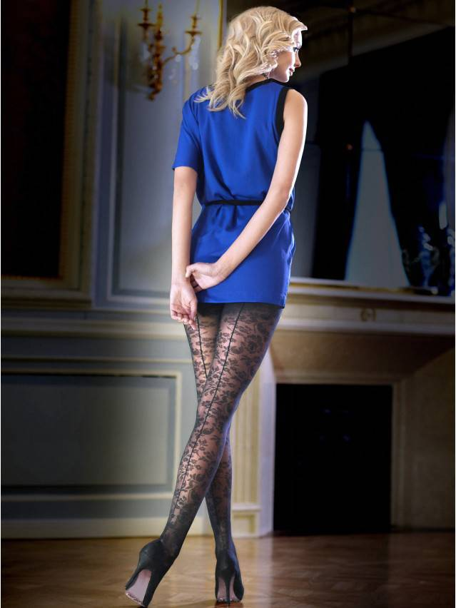 Women's tights CONTE ELEGANT LACE, s.2, nero - 1
