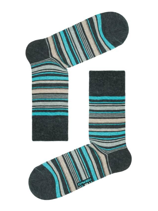 Men's socks DiWaRi HAPPY, s. 40-41, 034 dark grey-turquoise - 1