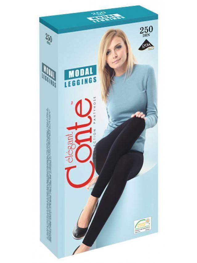 Women's leggings CONTE ELEGANT MODAL LEGGINGS 250, s.2, nero - 2