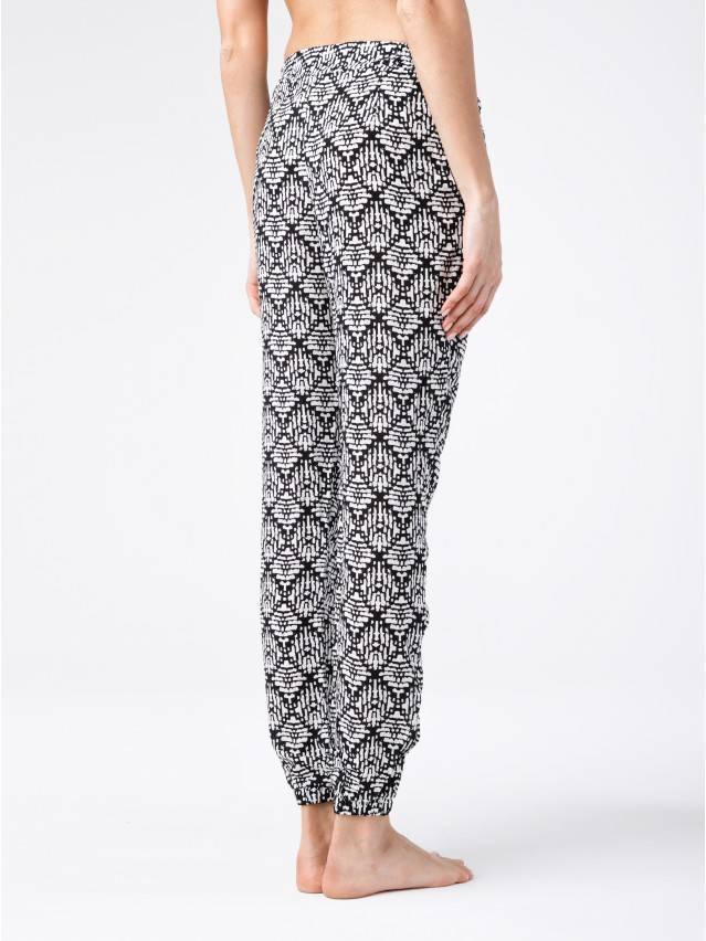 Women's trousers CONTE ELEGANT SAMIRA, s.164-64-92, black-white - 2