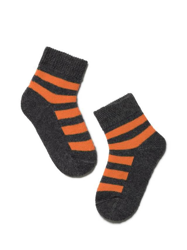 Children's socks CONTE-KIDS SOF-TIKI, s.10, 210 dark grey-orange - 1