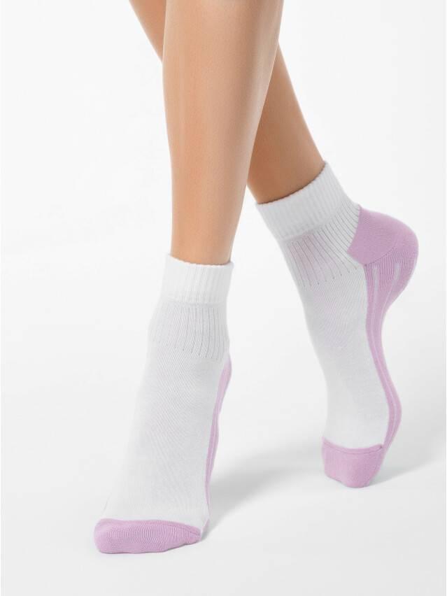 Women's socks CONTE ELEGANT ACTIVE, s.23, 026 white-lilac - 1