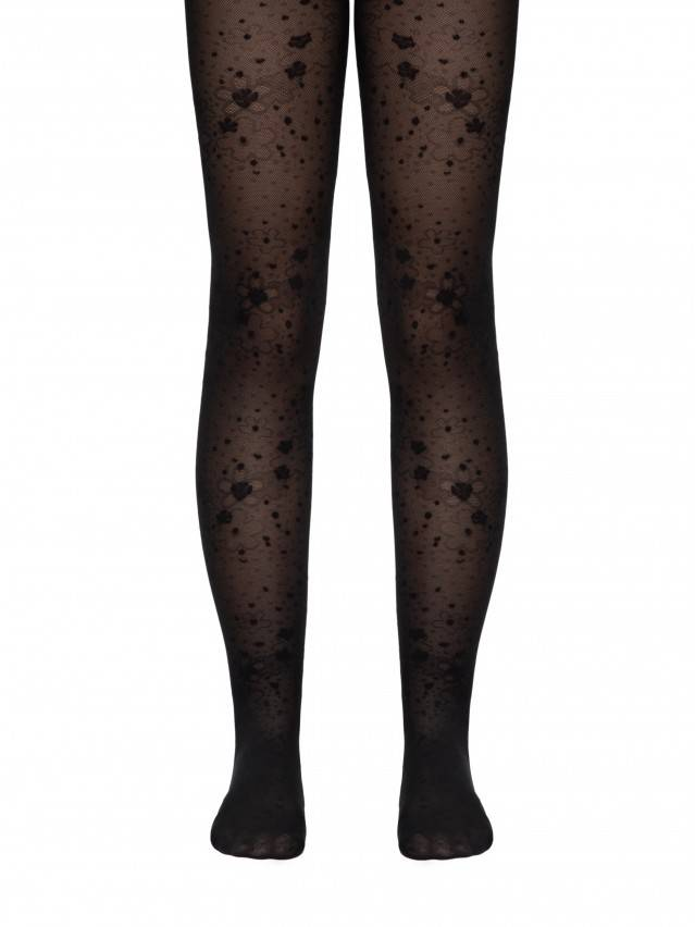 Fancy children's tights CONTE ELEGANT LAURA, s.104-110, nero - 1