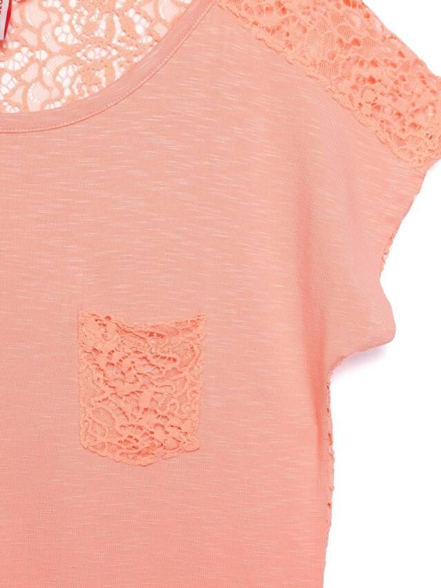 Women's polo neck shirt CONTE ELEGANT LD 527, s.158,164-100, peach - 3
