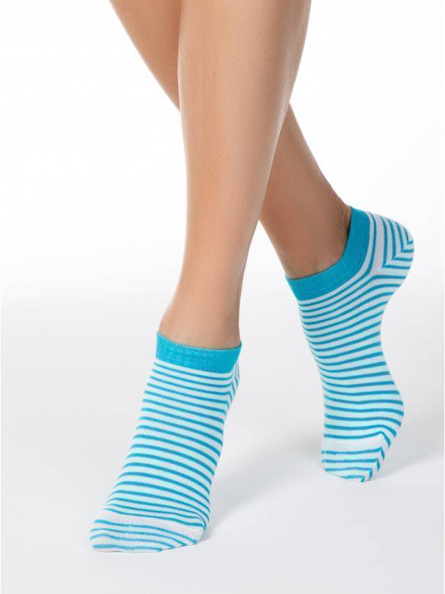 Women's socks CONTE ELEGANT ACTIVE, s.23, 073 white-turquoise - 1