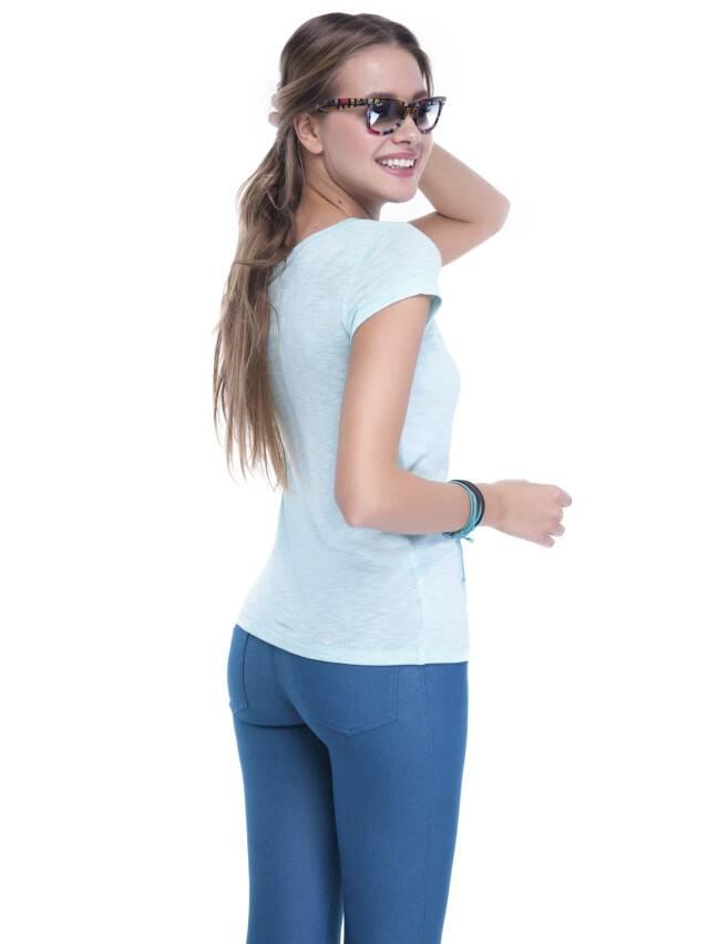 Women's polo neck shirt CONTE ELEGANT LD 498, s.158,164-100, blue - 1