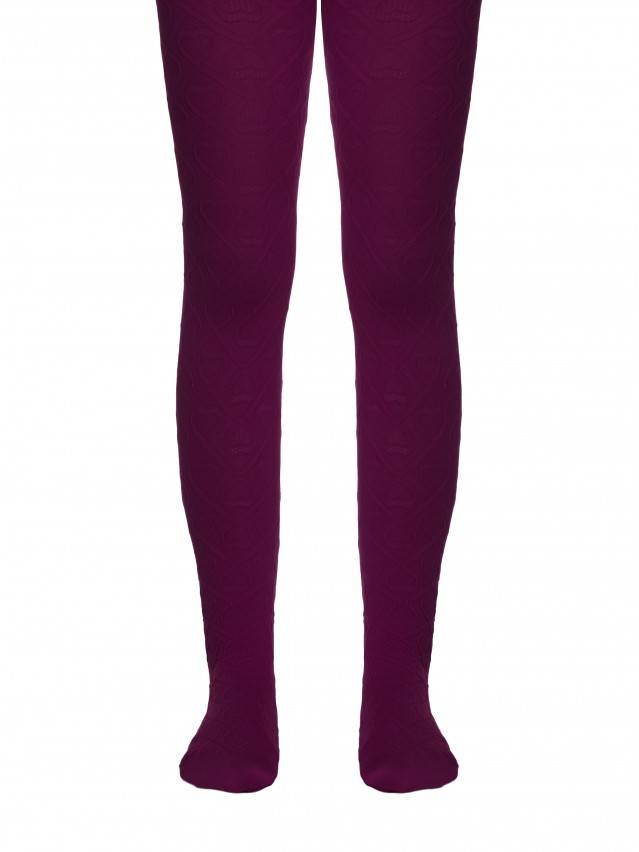 Fancy children's tights CONTE ELEGANT EVA, s.116-122, cherry - 1