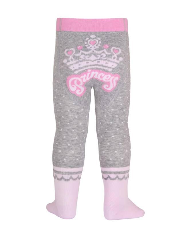 Children's tights CONTE-KIDS TIP-TOP, s.62-74 (12),383 grey-light pink - 2