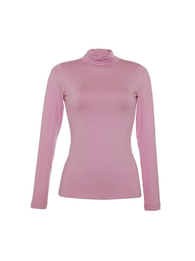 Women's polo neck shirt CONTE ELEGANT LD 600, s.158,164-100, pink - 1