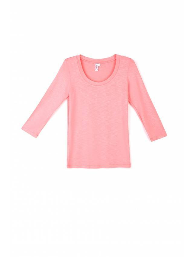 Women's polo neck shirt CONTE ELEGANT LD 478, s.158,164-100, coral red - 1