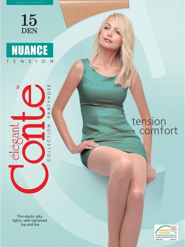 Women's tights CONTE ELEGANT NUANCE 15, s.2, shade - 2