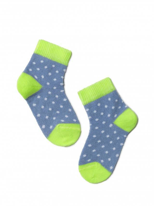 Children's socks CONTE-KIDS TIP-TOP, s.8, 214 denim-lettuce green - 1
