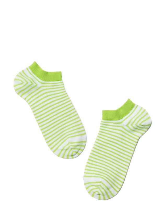 Women's socks CONTE ELEGANT ACTIVE, s.23, 073 white-lettuce green - 2