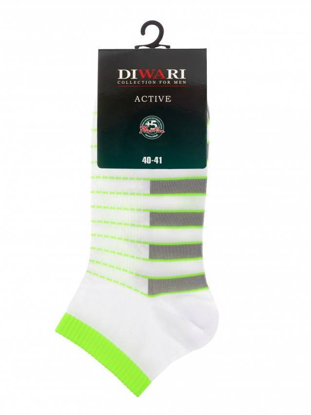 Men's socks DiWaRi ACTIVE, s. 40-41, 067 white-lettuce green - 3