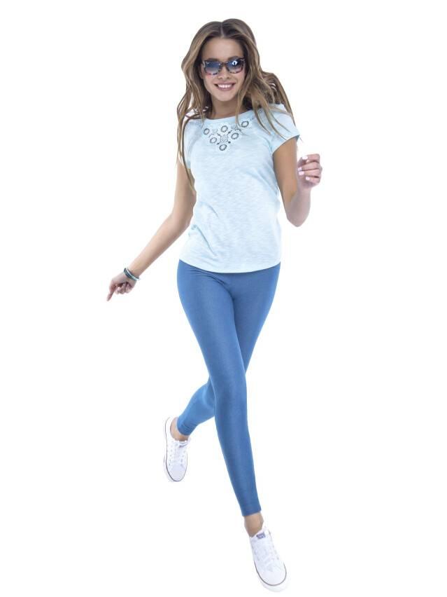 Women's polo neck shirt CONTE ELEGANT LD 498, s.158,164-100, blue - 2