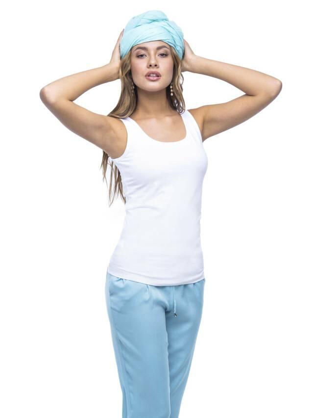 Women's polo neck shirt CONTE ELEGANT LD 526, s.158,164-100, white - 3