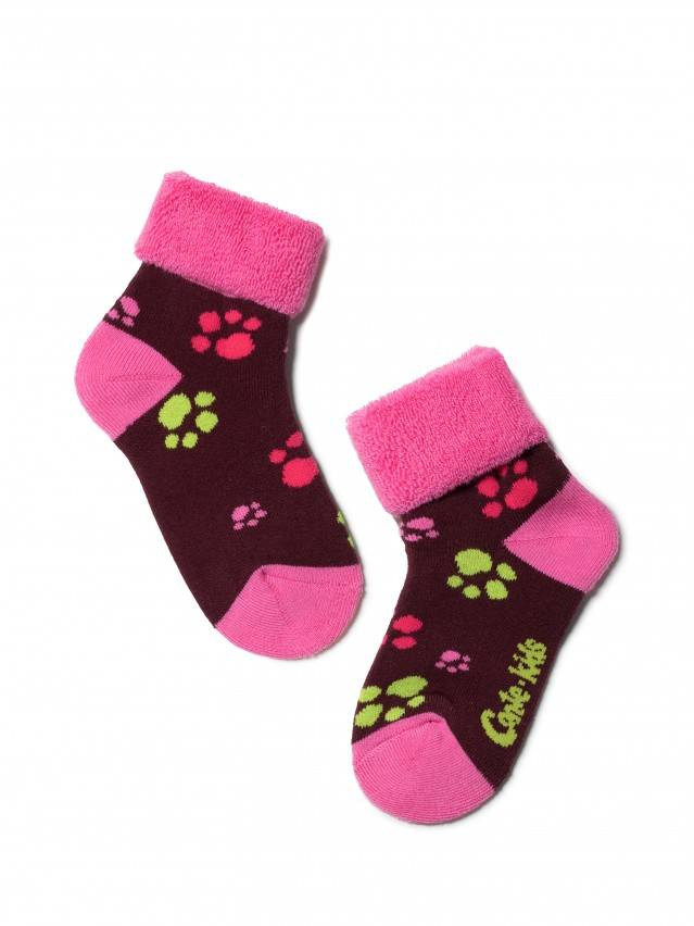 Children's socks CONTE-KIDS SOF-TIKI, s.12, 244 maroon - 1