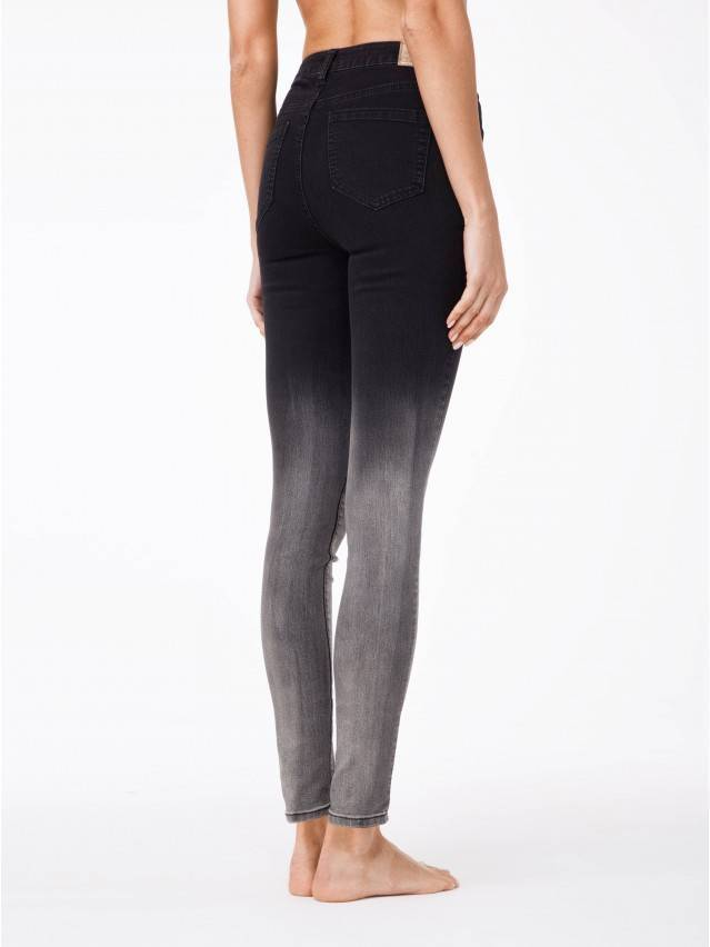 Denim trousers CONTE ELEGANT CON-57, s.170-102, black - 2