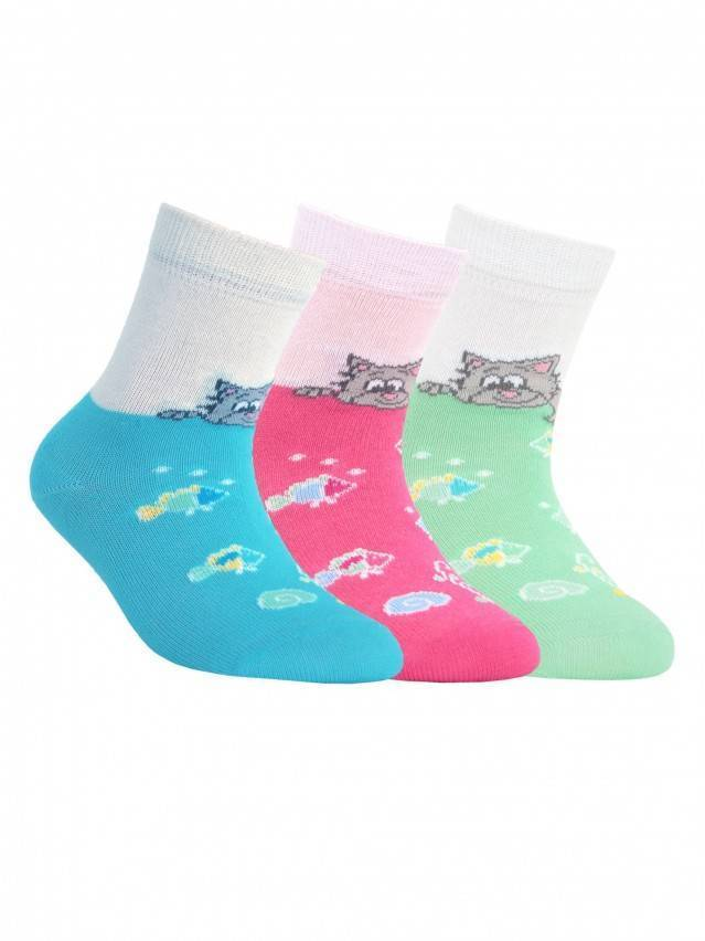 Children's socks CONTE-KIDS TIP-TOP, s.12, 075 pink - 1