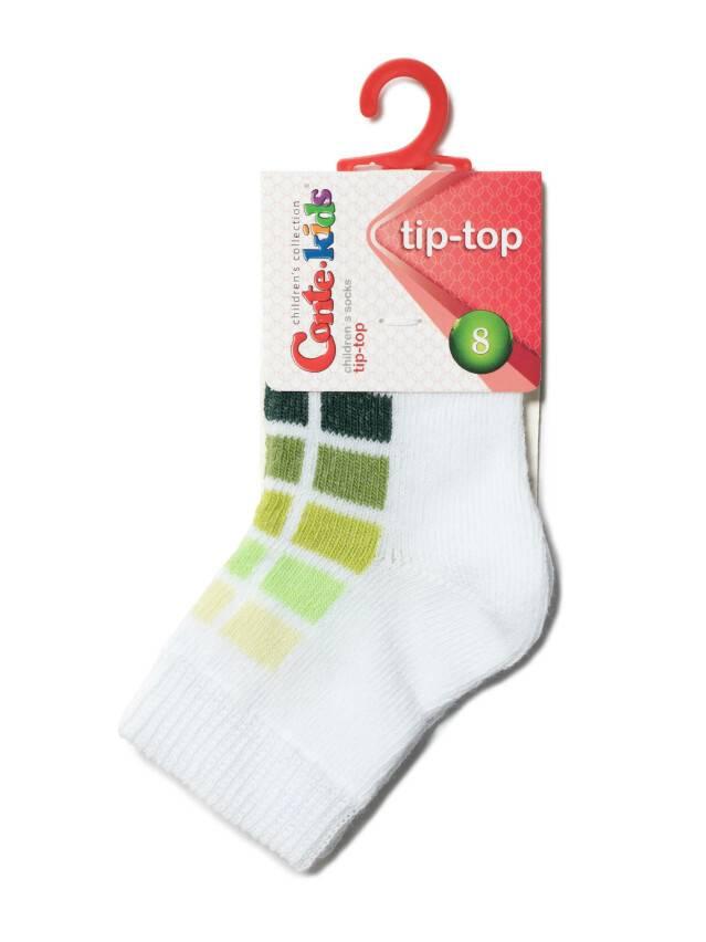 Children's socks CONTE-KIDS TIP-TOP, s.10, 217 white-lettuce green - 2