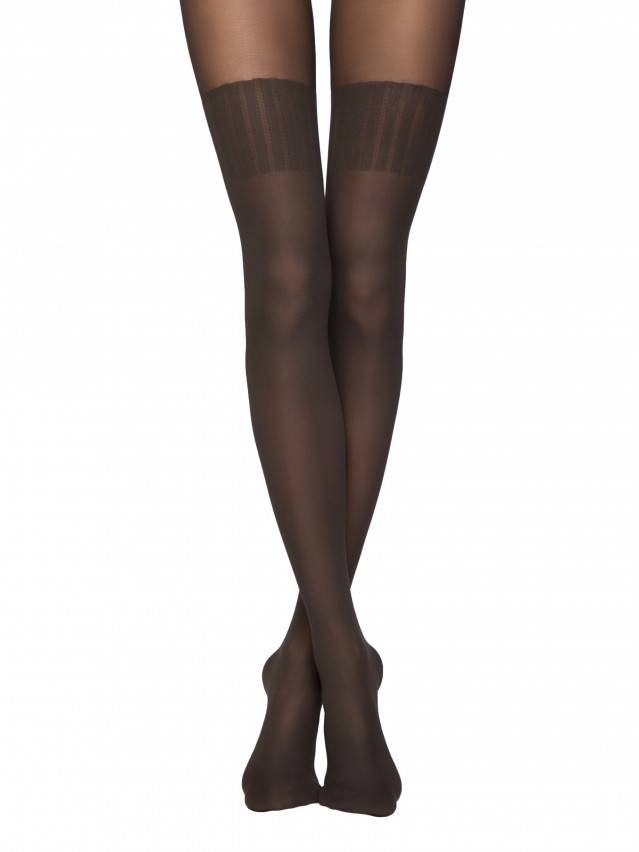 Women's tights CONTE ELEGANT ERICA, s.2, grafit - 1