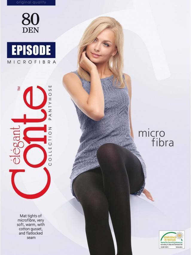 Women's tights CONTE ELEGANT EPISODE 80, s.2, nero - 2