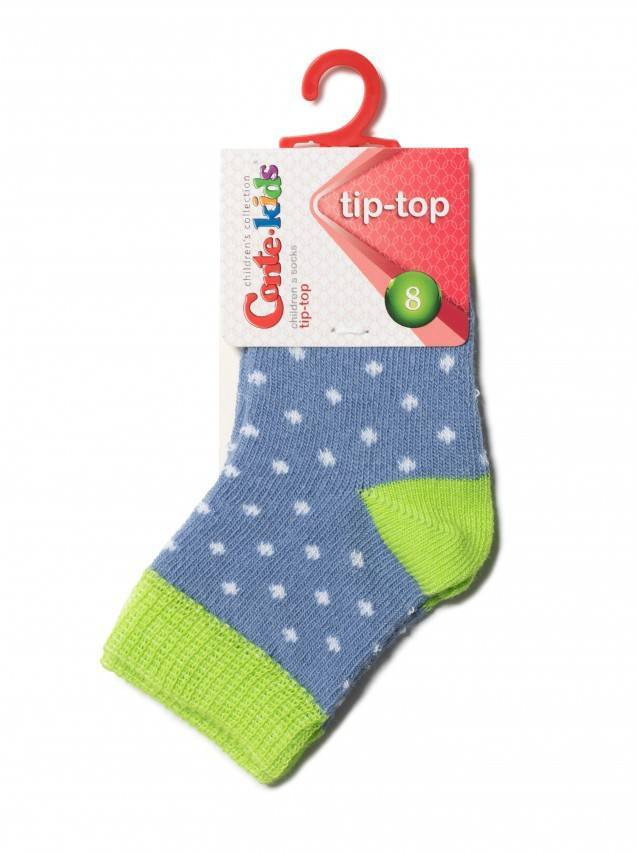Children's socks CONTE-KIDS TIP-TOP, s.8, 214 denim-lettuce green - 2