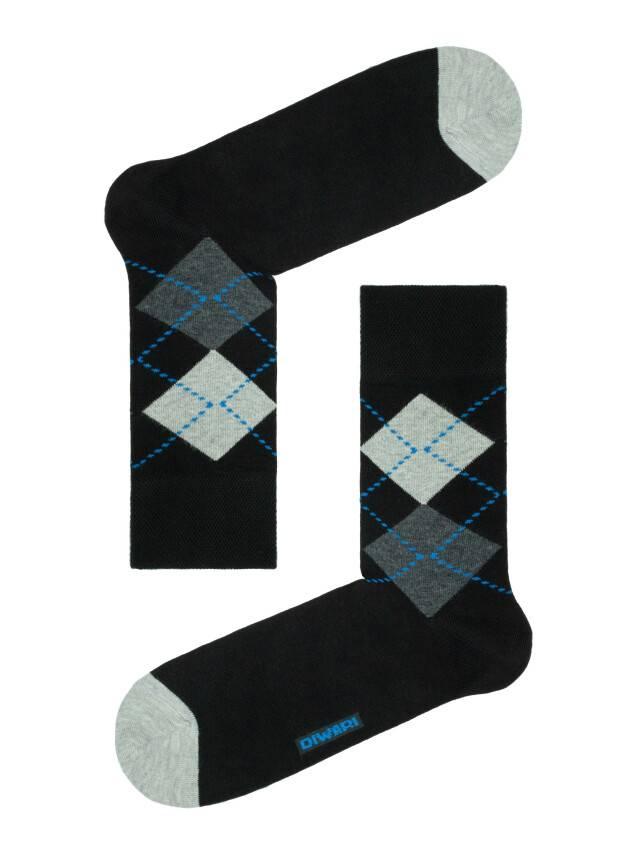 Men's socks DiWaRi HAPPY, s. 40-41, 032 black-dark blue - 1