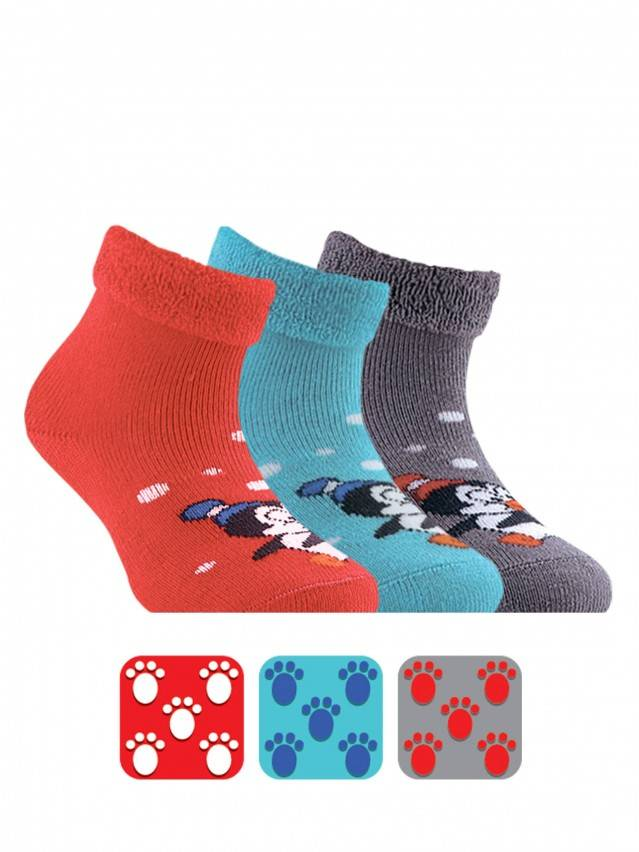Terry socks SOF-TIKI with a lapel and anti-slip foot 1