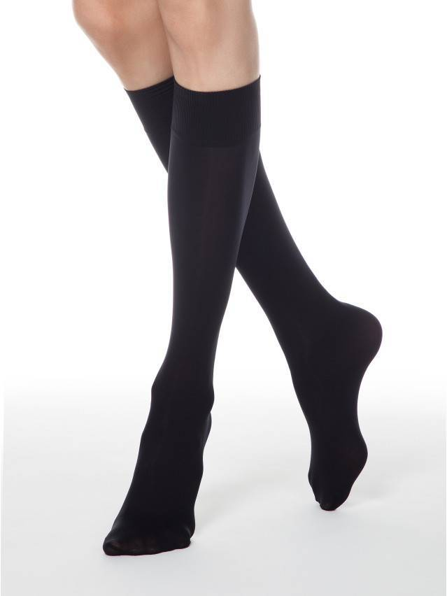 Women's knee high socks CONTE ELEGANT MICROFIBRA 50 (1 pair),s.23-25, nero - 2