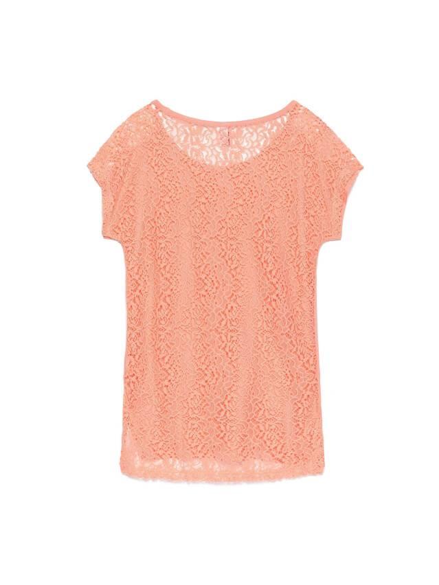 Women's polo neck shirt CONTE ELEGANT LD 527, s.158,164-100, peach - 2