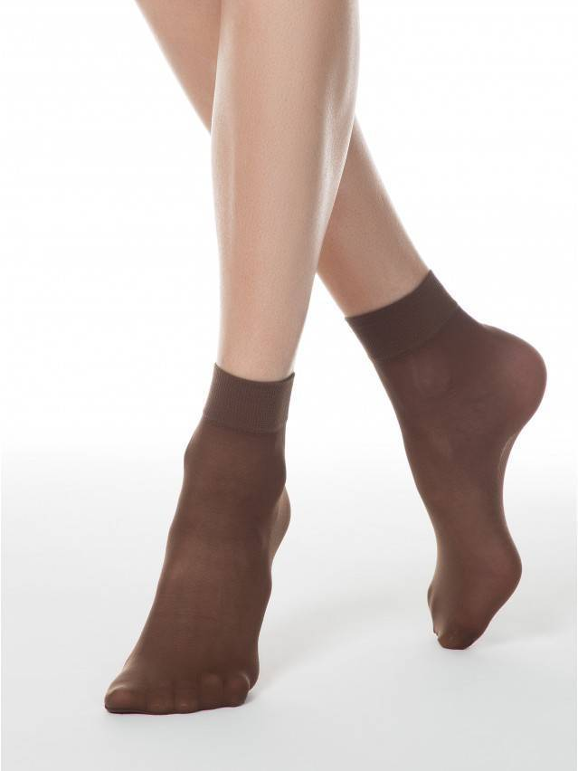 Women's socks CONTE ELEGANT TENSION 40 (2 pairs),s.23-25, mocca - 1