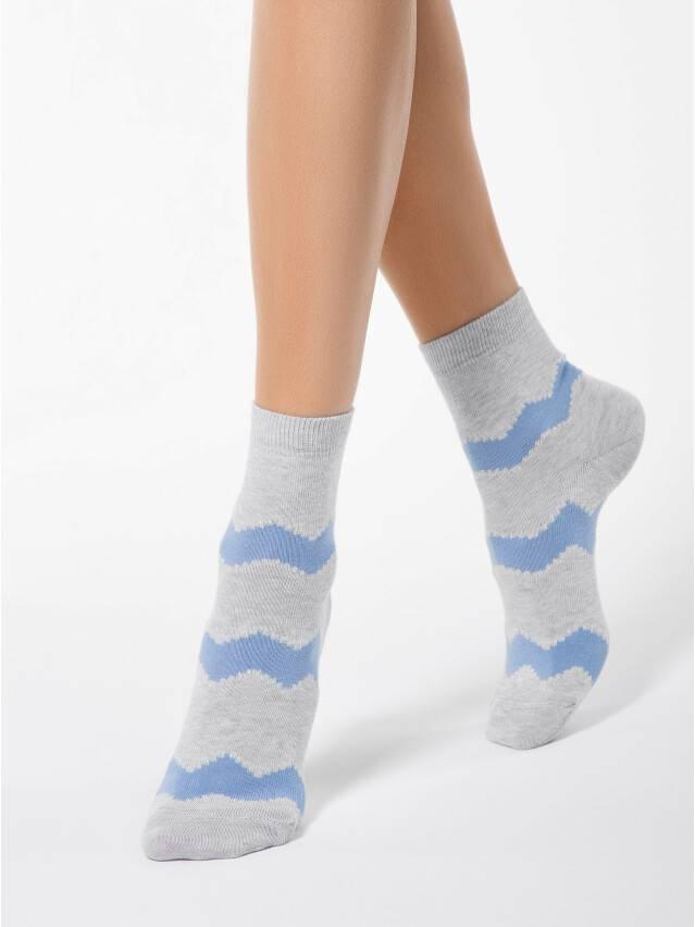 Women's socks CONTE ELEGANT CLASSIC, s.23, 065 grey-dark blue - 1