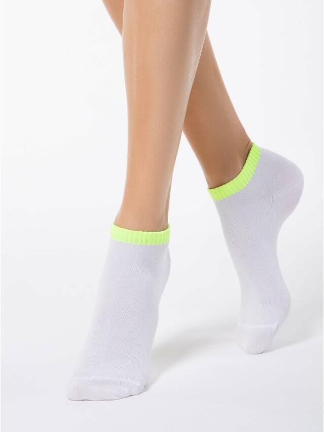 Women's socks CONTE ELEGANT CLASSIC, s.25, 068 white-lettuce green - 1
