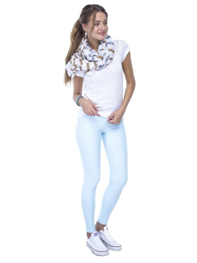Women's polo neck shirt CONTE ELEGANT LD 499, s.158,164-100, milky - 2