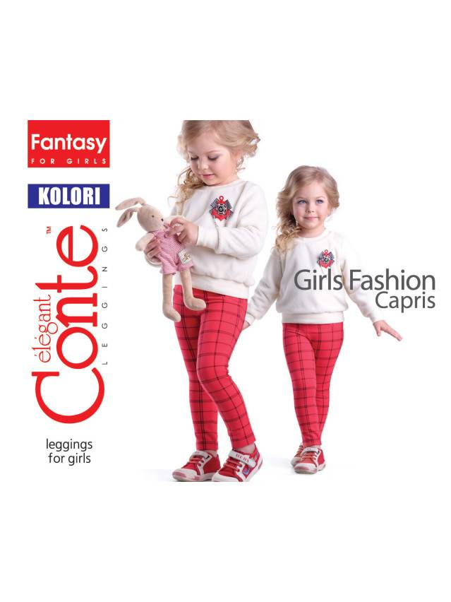 Leggings for girls CONTE ELEGANT KOLORI, s.110,116-56, blue - 1