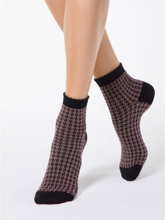 Women's socks CONTE ELEGANT CLASSIC, s.23, 056 black-white - 1
